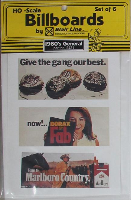 Blair Line HO 2421 1960s Billboards, General Set #1 (6)