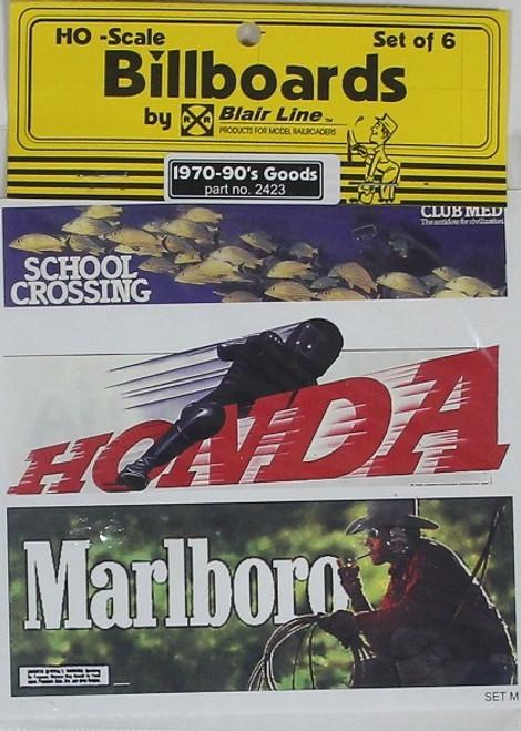 Blair Line HO 2423 1970s-1990s Billboards, Goods Set #1 (6)