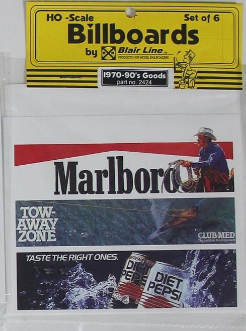 Blair Line HO 2424 1970s-1990s Billboards, Goods Set #2 (6)