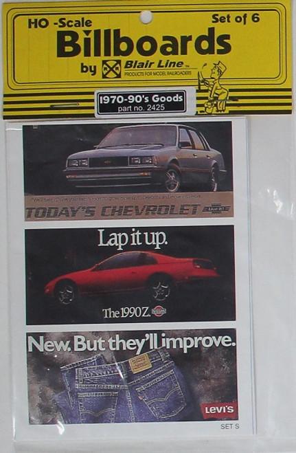 Blair Line HO 2425 1970s-1990s Billboards, Goods Set #3 (6)