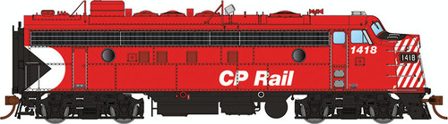 "Rapido HO 222514 GMDD FP7, CP Rail (Action Red 5"" Stripes) #1418 (Equipped with DCC and Sound)"
