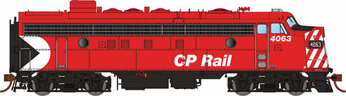 """Rapido HO 222520 GMDD FP7, CP Rail (Action Red 8"""" Stripes) #4063 (Equipped with DCC and Sound)"""