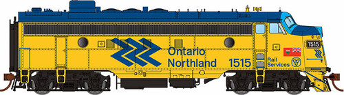 Rapido HO 222531 GMDD FP7, Ontario Northland (Chevron Scheme) #1515 (Equipped with DCC and Sound)