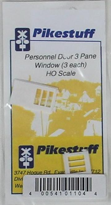 Pikestuff HO 541-1104 Personnel Door with 3-Pane Window