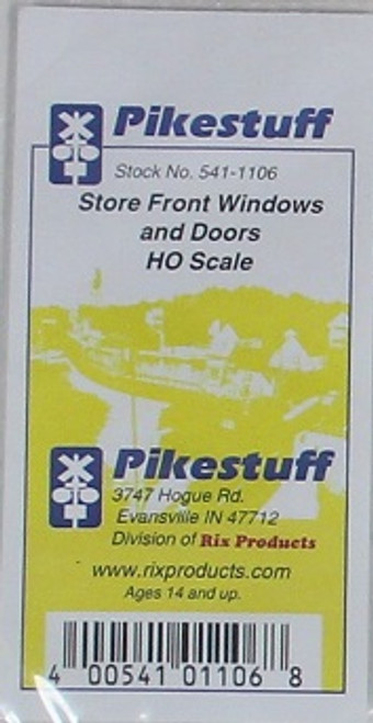 Pikestuff HO 541-1106 Store Front Windows and Doors