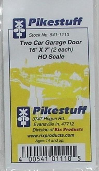 Pikestuff HO 541-1110 Two Car Garage Door 16 x 7 (2)