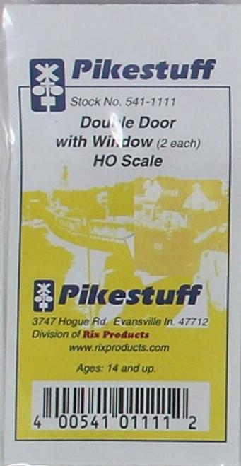 Pikestuff HO 541-1111 Double Door with Window (2)