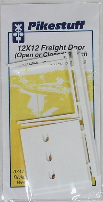 Pikestuff HO 541-1112 12 x 12 Freight Door Opened or Closed (2)
