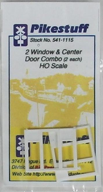 Pikestuff HO 541-1115 2 Window and Center Door Combo (2)