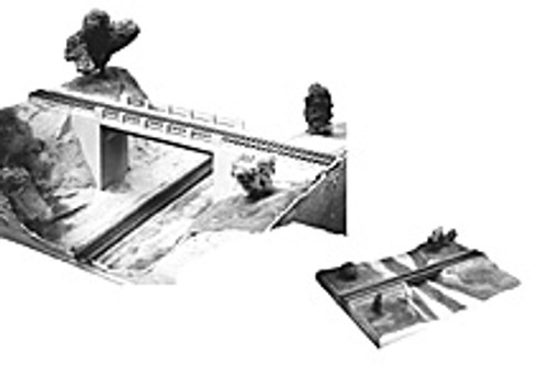 Plastruct HO 1001 Trackside Series Simple Span Bridges Kit