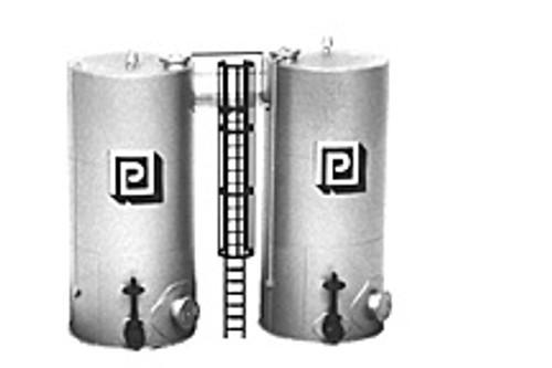 Plastruct HO 1018 Trackside Series Side by Side Vertical Tanks Kit