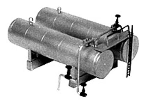 Plastruct N 2014 Trackside Series Twin Horizontal Storage Tank Kit