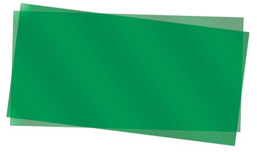 "Evergreen Scale Models 9903 Green Transparent Polystyrene Sheets .010"" (2)"