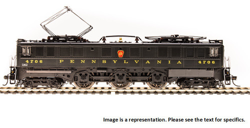 Broadway Limited Imports HO 4708 P5a Boxcab Electric Locomotive, Pennsylvania Railroad (Buff Yellow Coved Roman Lettering) #4757 (Paragon3 Sound/DC/DCC Equipped)