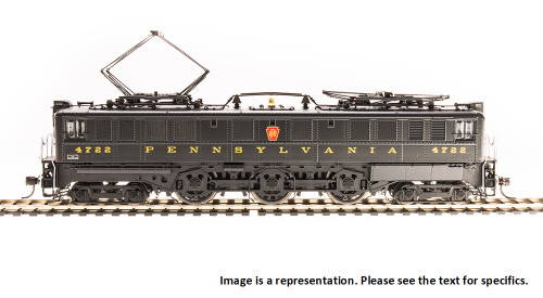 Broadway Limited Imports HO 4710 P5a Boxcab Electric Locomotive, Pennsylvania Railroad (Buff Yellow Round Roman Lettering) #4735 (Paragon3 Sound/DC/DCC Equipped)