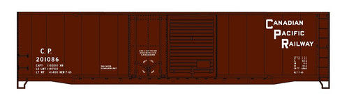 Accurail HO 5327 50' Combination Door Riveted-Side Steel Box Car Kit, Canadian Pacific #201086