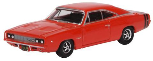 Oxford Diecast HO 87DC68001 Dodge Charger 1968, Bright Red
