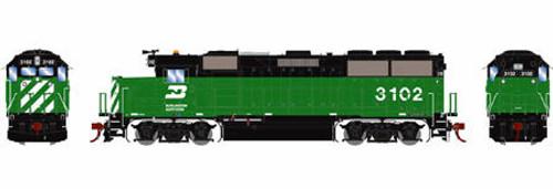 Athearn Genesis HO G65692 GP50, Burlington Northern (Green/Black) #3105