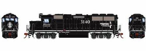 Athearn Genesis HO G65704 GP50 Phase 1 Rebuilt Into GP40-3, Illinois Central (ex-CNW) #3140
