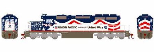 Athearn HO 71529 SD40-2, Union Pacific (United Way) #3300