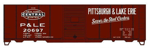 Accurail HO 81111-20697 40' Steel Box Car Kit, Pittsburgh and Lake Erie (NYC) #20697