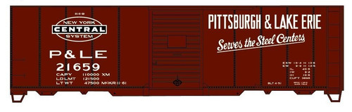 Accurail HO 81111-21659 40' Steel Box Car Kit, Pittsburgh and Lake Erie (NYC) #21659