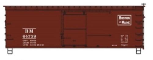 Accurail HO 1407 36' Double Sheath Wood Box Car Kit, Boston and Maine #64739