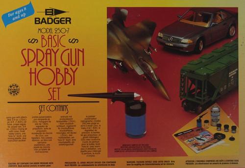 Badger 250-7 Basic Spray Gun Hobby Set with Gun and Accessories