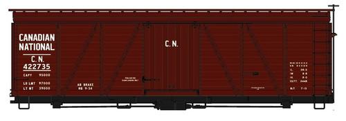 Accurail HO 11541-422735 36' Fowler Wood Box Car Kit, Canadian National #422735