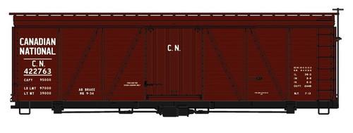 Accurail HO 11541-422763 36' Fowler Wood Box Car Kit, Canadian National #422763