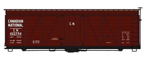 Accurail HO 11541-422794 36' Fowler Wood Box Car Kit, Canadian National #422794