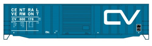 Accurail HO 5661 50' Exterior Post Welded Steel Box Car Kit, Central Vermont #600178