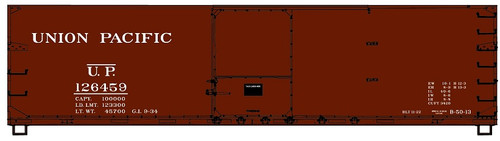 Accurail HO 46132 40' Double Sheath USRA Wood Box Car Kit, Union Pacific #126459