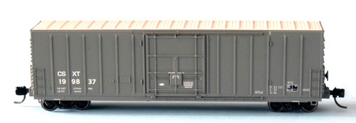 """Wheels of Time N 61179 Exterior Post Insulated Box Car with 10'-6"""" Plug Door, CSX (CSXT) #199812"""