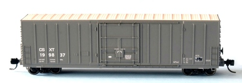 """Wheels of Time N 61183 Exterior Post Insulated Box Car with 10'-6"""" Plug Door, CSX (CSXT) #199830"""
