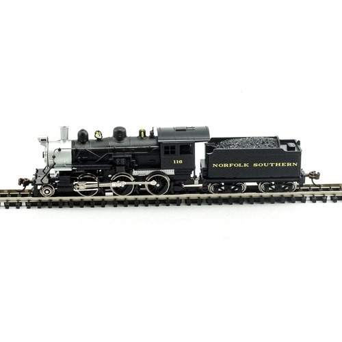 Model Power N 876501 2-6-0 Mogul Steam Locomotive, Norfolk Southern #116 (DCC and Sound Equipped)