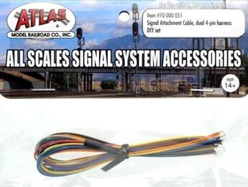 Atlas 70000051 Signal Attachment Cable, Dual 4-Pin Harness DIY Set