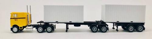 Herpa HO 006584 PB Coe B-Train with 20' Container Semi, Cherokee Freight