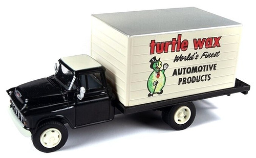 Classic Metal Works HO 30570 1955 Chevrolet Box Body Delivery Truck, Turtle Wax