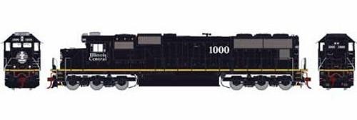 Athearn Genesis HO G70506 SD70, Illinois Central (Yellow Stripe) #1000