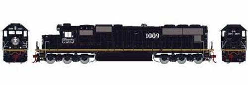 Athearn Genesis HO G70508 SD70, Illinois Central (Yellow Stripe) #1009