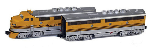 American Z Line Z 62915-1 F3 Phase II California Zephyr Set, Denver and Rio Grande Western #5521/5522