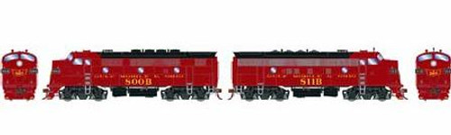 Athearn Genesis HO G22840 F3A/F7A, Gulf Mobile and Ohio (Freight) #800b/811b (DCC and Sound Equipped)