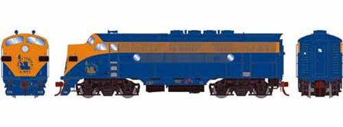 Athearn Genesis HO G22847 F3A, Central of New Jersey (Freight) #52 (DCC and Sound Equipped)