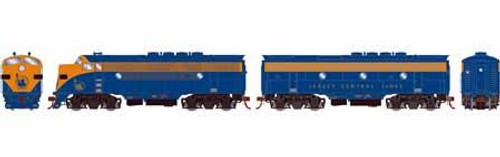 Athearn Genesis HO G22849 F3 A/B, Central of New Jersey (Freight) Unnumbered (DCC and Sound Equipped)