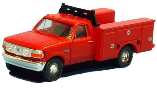 River Point Station N N36-J725.10 1992 Ford F-350 Super Duty 4x4 Service Truck, Red (2-Pack)