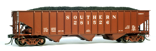 """Tangent Scale Models HO 15023-03 PS-3 2750 Open Hopper, Southern """"Original Red 1-1958"""" #281430"""