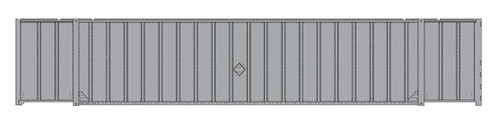 Intermountain HO 30620 A-Line Hyundai 53' Hi-Cube Container, Undecorated (2-Pack)
