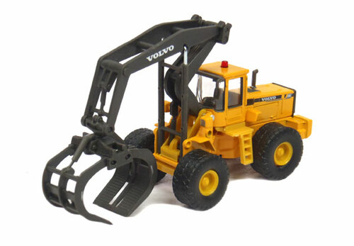 Cararama HO 810-001 Volvo L180C with Timber Grapple (No Restock Expected)