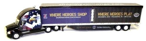 """Trucks N Stuff HO 400605 Freightliner Cascadia with 53' Dry Van, 93127 Exchange """"Where Heroes Shop"""""""